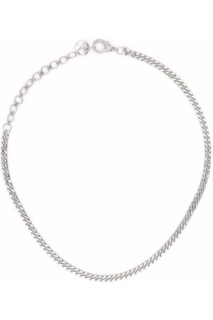 Shay Women Necklaces - 18kt white gold diamond curb chain choker