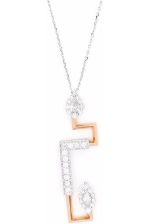 Yeprem Women Necklaces - 18kt gold diamond pendant necklace