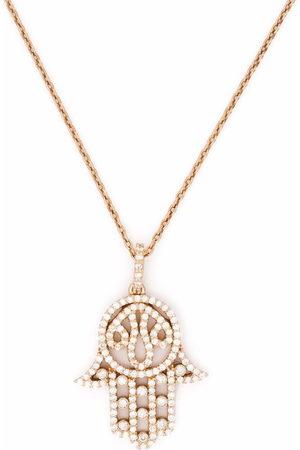 Monan 18kt diamond hamsa pendant necklace