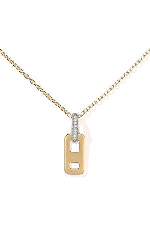 AS29 18kt diamond DNA micro pendant necklace