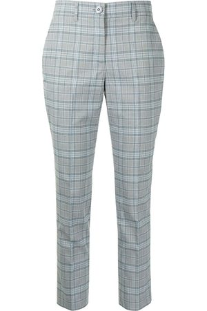 Twin-Set Women Trousers - Check-print pressed-crease trousers