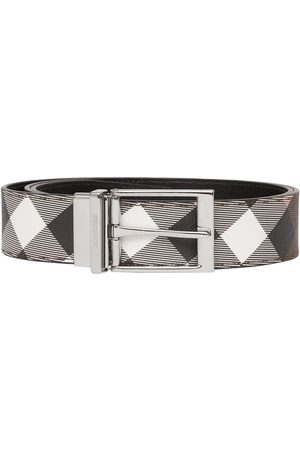 Burberry Reversible check-print belt