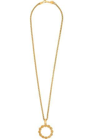CHANEL 1995 CC loupe pendant long necklace