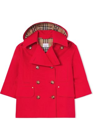 Burberry Girls Trench Coats - Detachable-hood trench coat