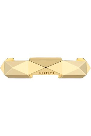 Gucci Rings - 18kt yellow Link to Love studded ring