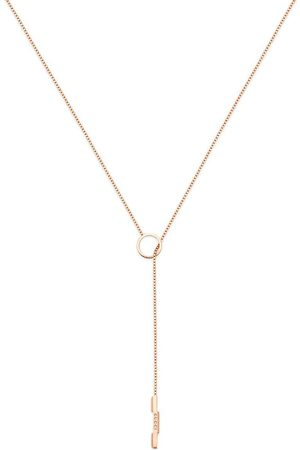 Gucci 18kt rose gold Link to Love lariat necklace