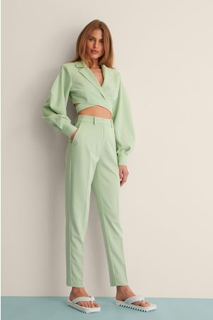 Curated Styles Straight Suit Pants - Green