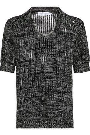 Proenza Schouler Women Polo Shirts - White Label silk and cotton knit polo shirt