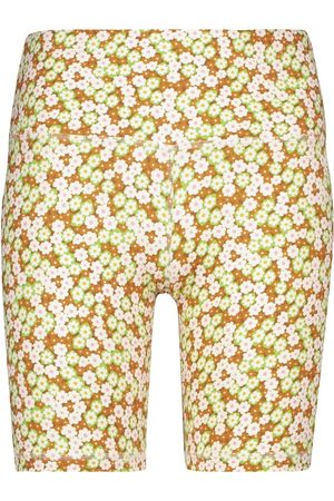Tory Sport Women Sports Shorts - Floral high-rise biker shorts