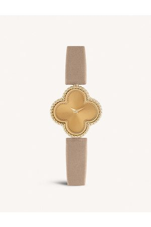 Van Cleef & Arpels Women Watches - Sweet Alhambra - and leather watch