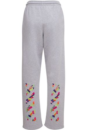 OFF-WHITE Women Trousers - Lvr Exclusive Cotton Printed Sweatpants