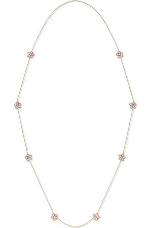 David Morris Women Necklaces - 18kt rose gold diamond Miss Daisy Sautoir necklace