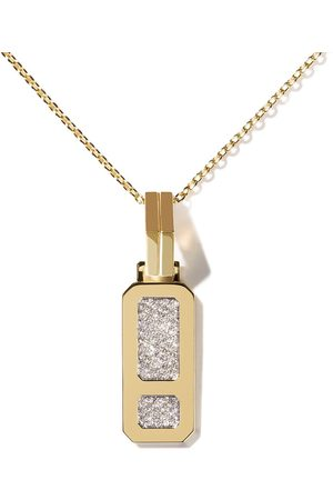 AS29 Women Necklaces - 18kt yellow DNA pavé diamond pendant necklace