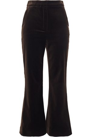 ZIMMERMANN Women Wide Leg Trousers - Woman Cotton-velvet Kick-flare Pants Chocolate Size 0