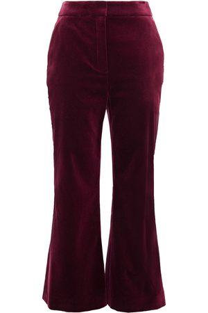 ZIMMERMANN Woman Cotton-velvet Kick-flare Pants Claret Size 0