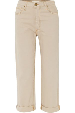 The Great Women Straight - Woman The Easy Roll Cropped High-rise Straight-leg Jeans Size 27