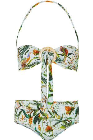 DODO BAR OR Women Bikinis - Woman + Annabel's Knotted Printed Bandeau Bikini Sky Size L