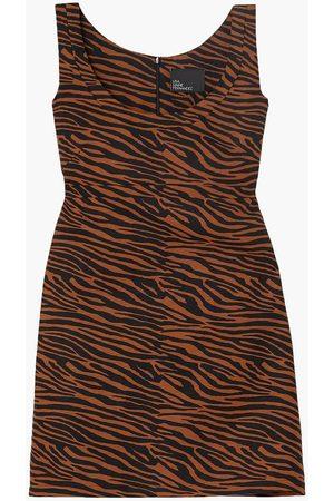 Lisa Marie Fernandez Women Printed Dresses - Woman Zani Zebra-print Linen Mini Dress Animal Print Size 1
