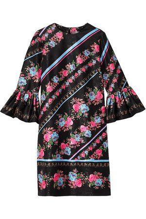 Erdem Women Printed Dresses - Woman Elijah Floral-print Satin-jacquard Mini Dress Size 10