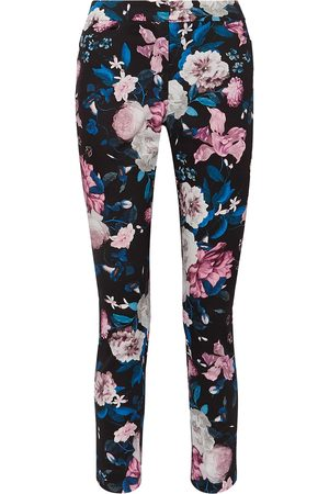 Erdem Women Skinny Trousers - Woman Sidney Floral-print Cotton-blend Slim-leg Pants Size 10