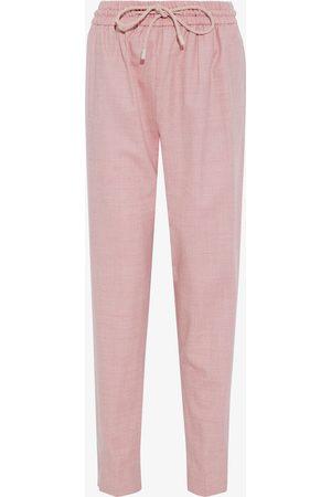 Roksanda Woman Mélange Wool-blend Twill Tapered Pants Baby Size 10