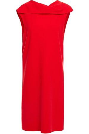 Oscar de la Renta Women Dresses - Woman Draped Wool-blend Crepe Mini Dress Size 0