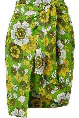 DODO BAR OR Women Mini Skirts - Woman Mosa Floral-print Tie-front Cotton-voile Mini Skirt Size L
