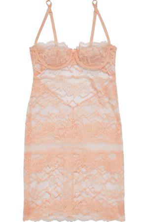 La Perla Women Nightdresses & Shirts - Woman Cutout Stretch-tulle And Chantilly Lace Chemise Peach Size I B