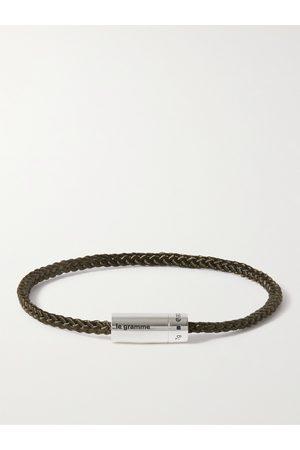 Le Gramme Men Bracelets - 5g Braided Cord and Sterling Silver Bracelet