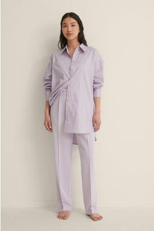 NA-KD Reborn Mid Rise Suit Pants - Purple
