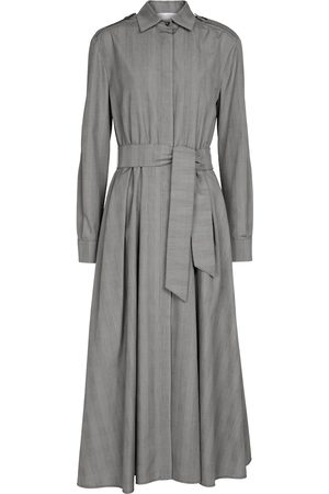 Max Mara Fido checked cotton shirt maxi dress