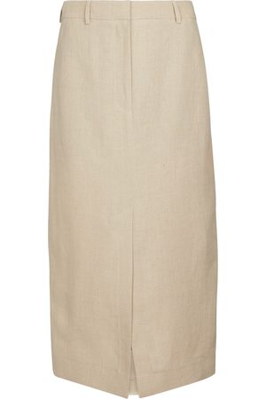 Burberry Linen pencil skirt