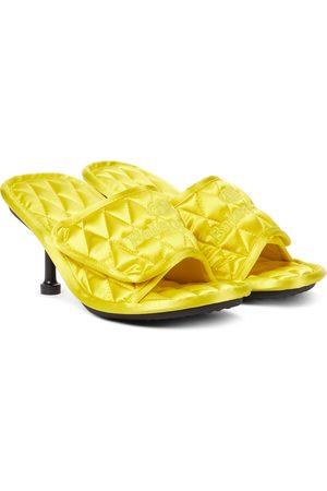 Balenciaga Home quilted satin sandals