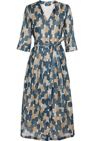Max Mara Pesche printed cotton midi dress