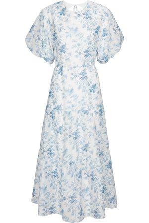 SIR Floral tiered midi dress
