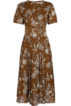 Max Mara Urbano floral cotton midi dress