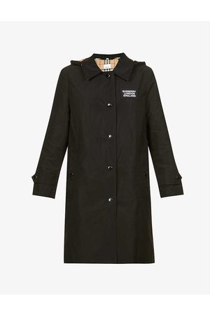 Burberry Oxclose branded shell coat