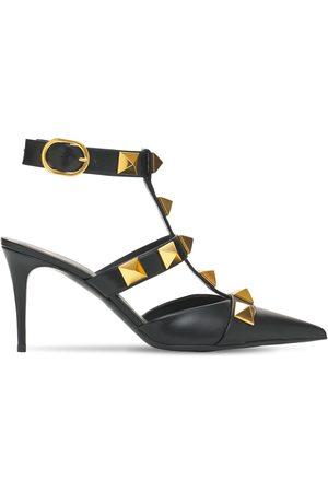 VALENTINO GARAVANI Women Heels - 80mm Roman Studs Leather Pumps