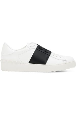 VALENTINO GARAVANI 20mm Open Leather Sneakers