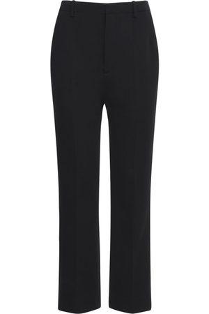 SAINT LAURENT Wool Blend Jersey Wide Leg Pants