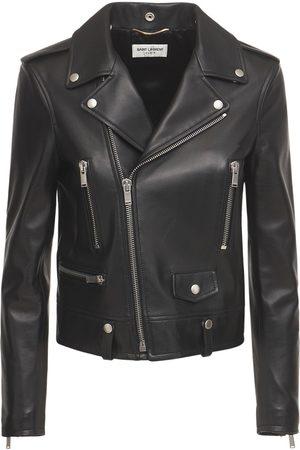 SAINT LAURENT Women Leather Jackets - Leather Biker Jacket