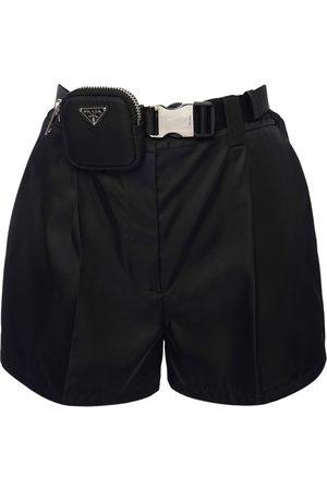 PRADA Nylon Gabardine Shorts W/ Pouch