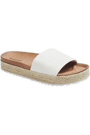 Graceland Women Sandals - Woven Effect Mule Footbed Sandals
