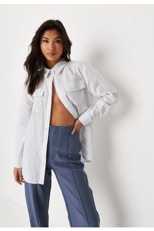 Missguided Stripe Oversized Shirt