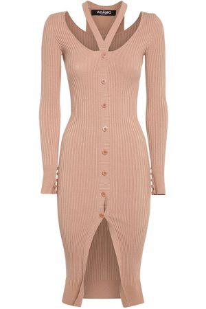 ANDREA ADAMO Women Midi Dresses - Double Layer Viscose Blend Midi Dress