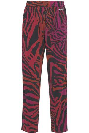KOCHE' Tiger Print Viscose Jersey Sweatpants