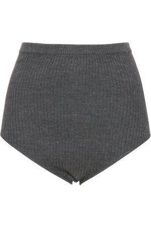 LOULOU STUDIO Arousa Wool & Cashmere Rib Knit Shorts