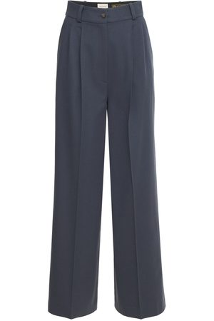 Loulou Studio Restinga Wide Front Pleated Wool Pants