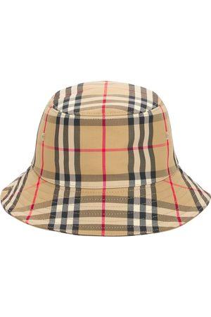 Burberry Check Blend Cotton Bucket Hat