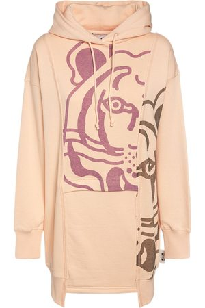 KENZO Printed K-tiger Cotton Hoodie Mini Dress
